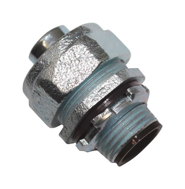 Sigma Electric ProConnex  3/4 in. Dia. Zinc-Plated Iron  Straight Connector  For Liquid Tight 1 pk