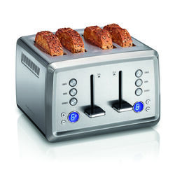 Hamilton Beach  Stainless Steel  Silver  4 slot Toaster  8.25 in. H x 12.38 in. W x 12 in. D