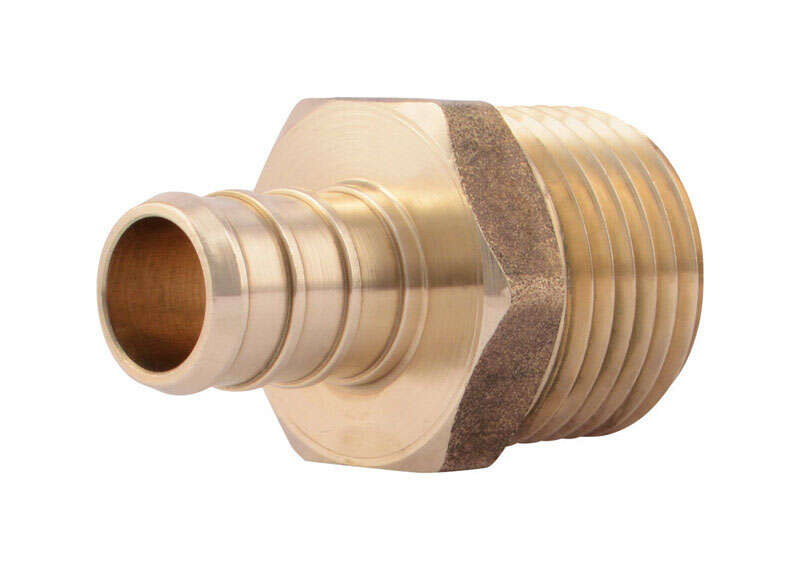 Zurn  1/2 in. Barb   x 1/2 in. Dia. MPT  Brass  Adapter