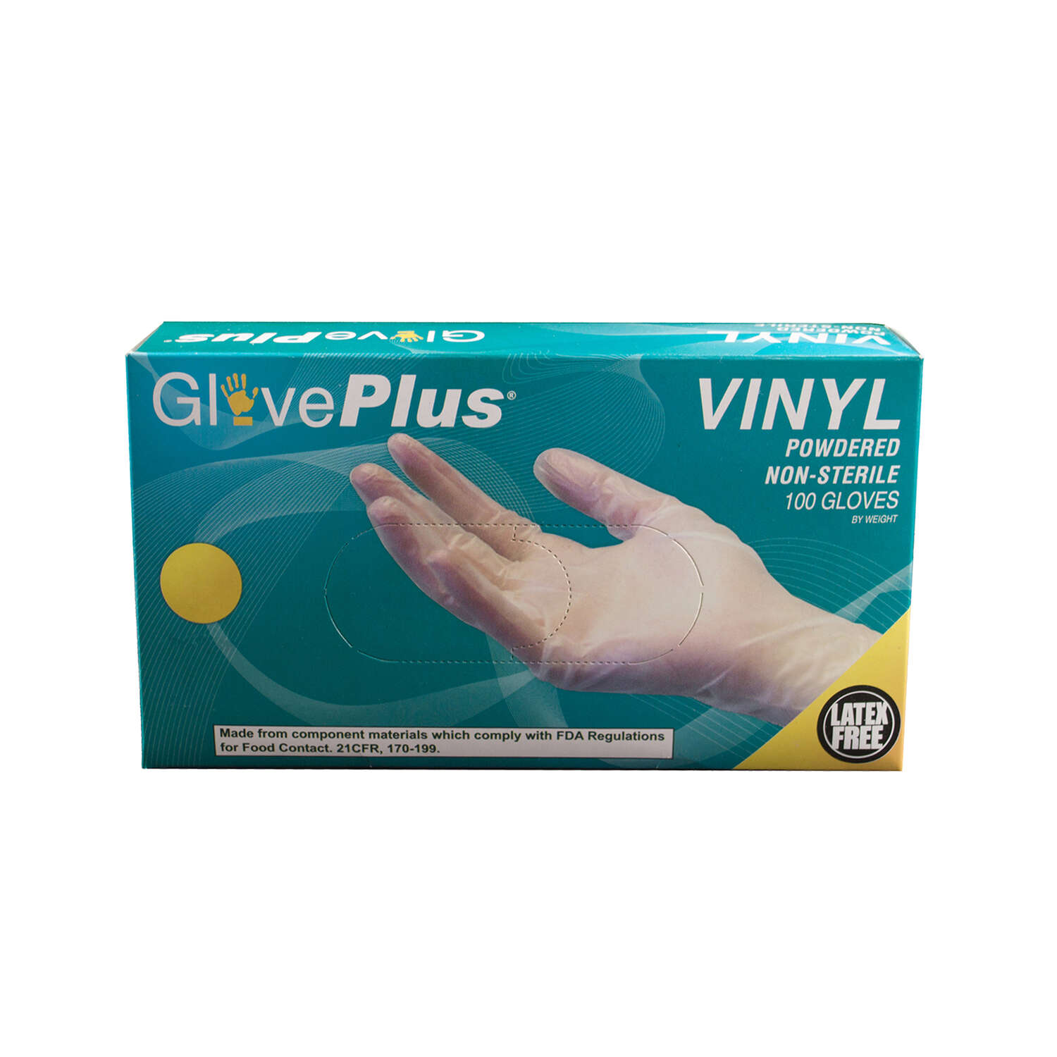 GlovePlus  Vinyl  Disposable Gloves  L  Clear  100 pk