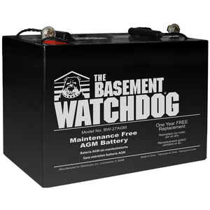 Basement Watchdog  9 inch  H x 10-1/4 inch  W x 6-1/2 inch  L Maintenance Free Battery