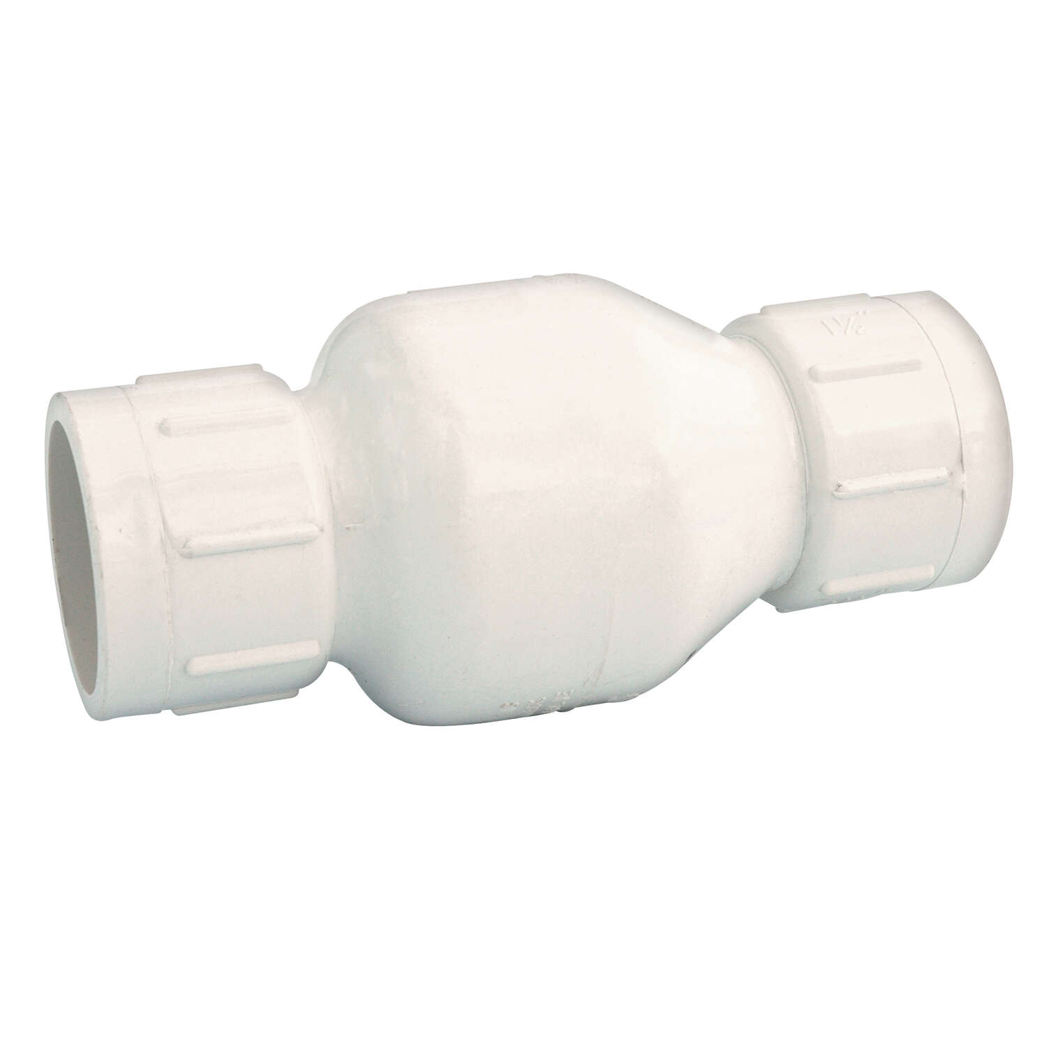 NDS  1-1/4 in. Dia. x 1-1/4 in. Dia. Plastic  Spring Loaded  Check Valve