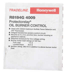Honeywell  Oil Burner Control  120 volt