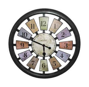 Westclox  18 in. L x 17 in. W Casual  Analog  Wall Clock  Multicolored  Indoor  Plastic