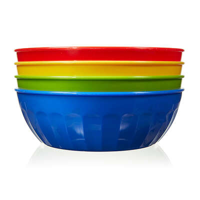 Arrow Home Products  16 oz. Assorted  Plastic  Round  Bowl  5-1/2 in. Dia. 4 pk