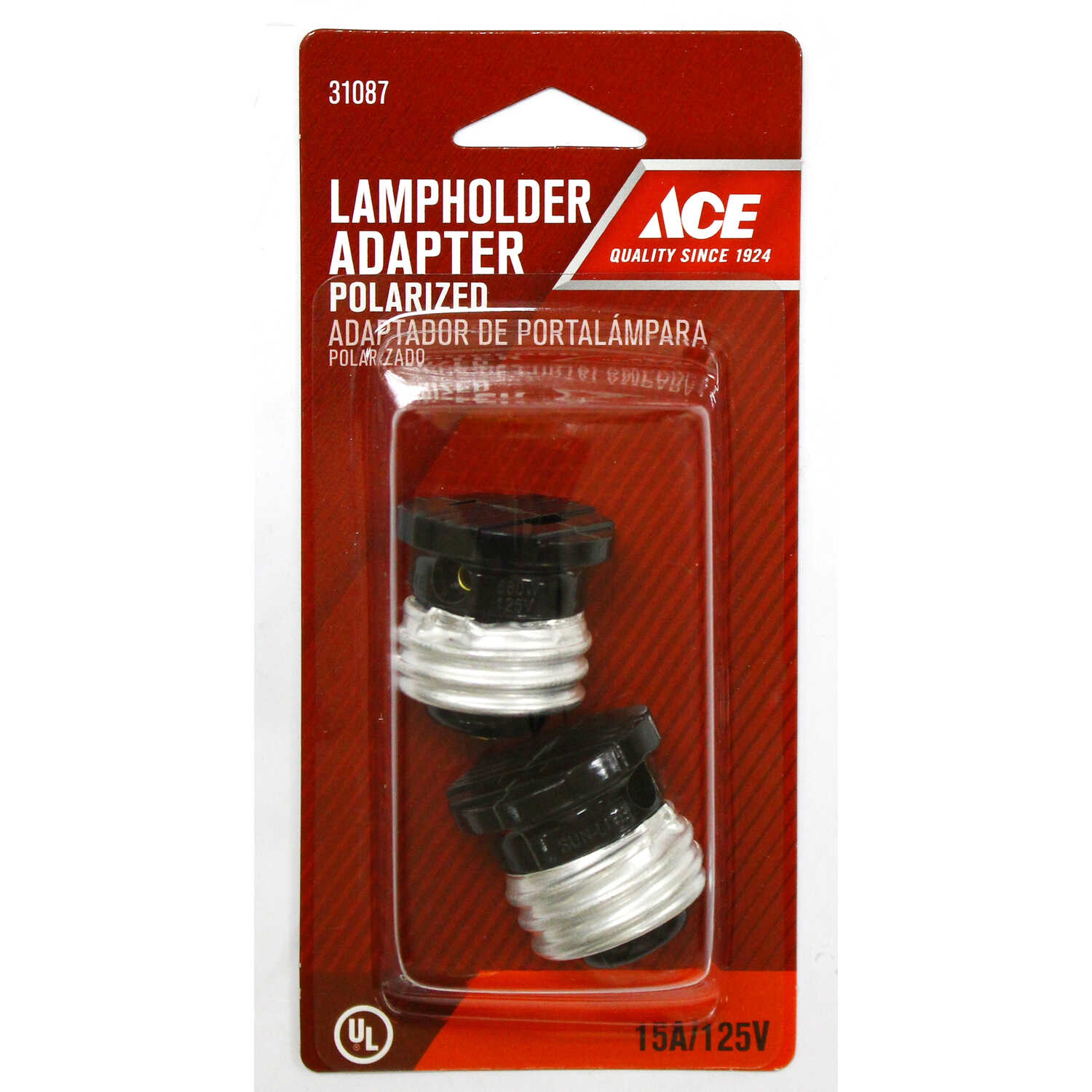 Ace  Polarized  1  Polarized Socket Adapter  2 pk Surge Protection