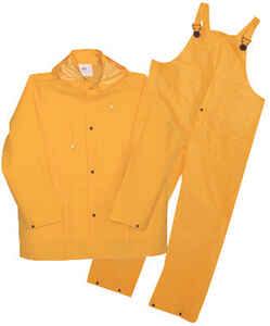 Boss  Yellow  PVC-Coated Polyester  Rain Suit  XXL