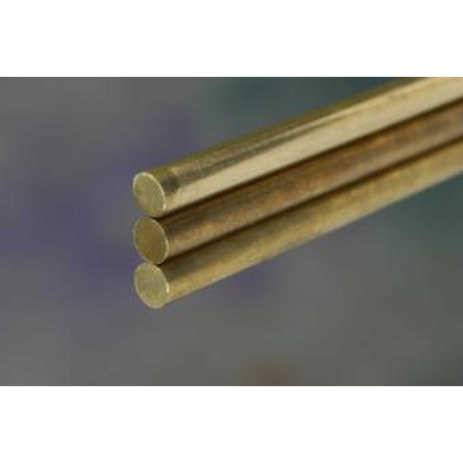 K&S  1/4 in. Dia. x 36 in. L Brass Rod  1 pk