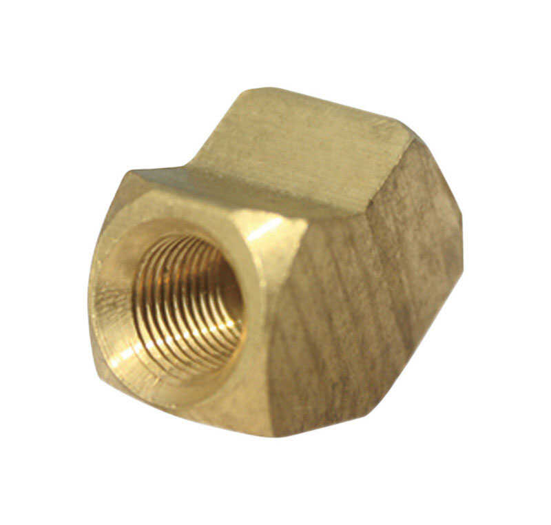 Ace  1/4 in. Dia. x 1/4 in. Dia. FPT To Compression To Compression  Yellow Brass  Elbow
