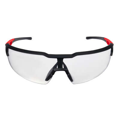Milwaukee Anti-Fog Safety Glasses Clear Lens Black/Red Frame 1 pc.
