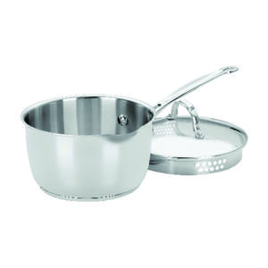 Cuisinart  Chef's Classic  Stainless Steel  Saucepan  2 qt. Silver