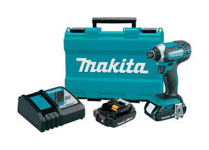 Makita  18 volts 1/4 in. Cordless  Hex  Kit 2900 rpm 3500 ipm 1460  Impact Driver