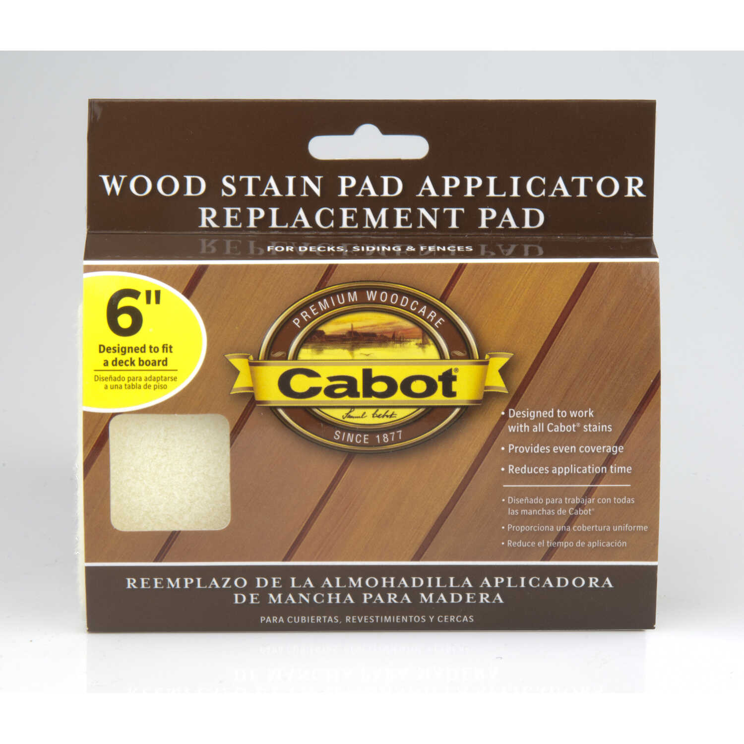 Cabot  Refill 6 in. W x 6 in. W Wood Stain Pad  For Smooth Surfaces For Smooth Surfaces