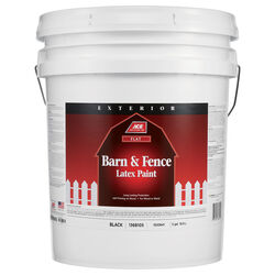 Ace Flat Black Barn and Fence Paint Exterior 5 gal.