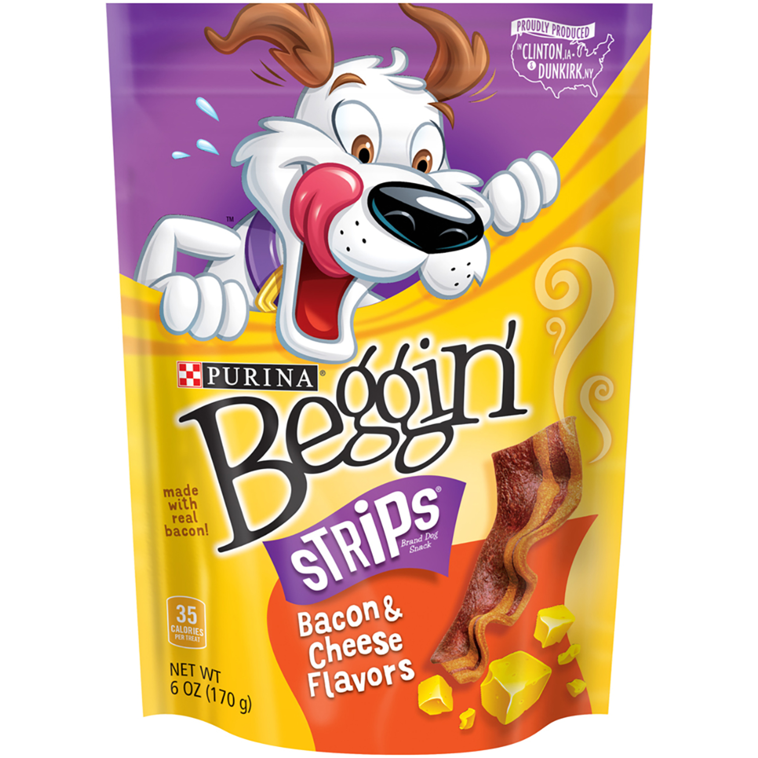 Purina  Beggin Strips  Bacon and Cheese  Dog  Treats  1 pk