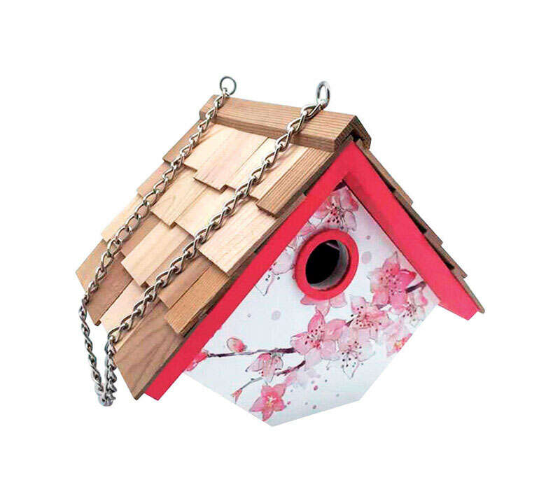 Home Bazaar  7 in. H x 8.25 in. W x 6.7 in. L Wood  Bird House