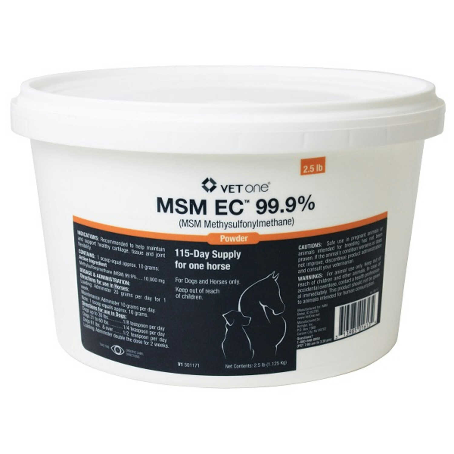 VetOne MSM EC Powder Joint Care For Horse 2 5 lb  - Ace Hardware
