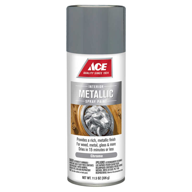 Ace  Brilliant  Chrome  Spray Paint  11.5 oz.