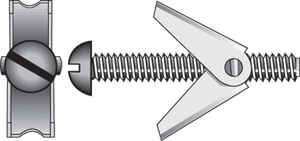 Hillman  1/8 in. Dia. x 3 in. L Round  Steel  Toggle Bolt  2 pk