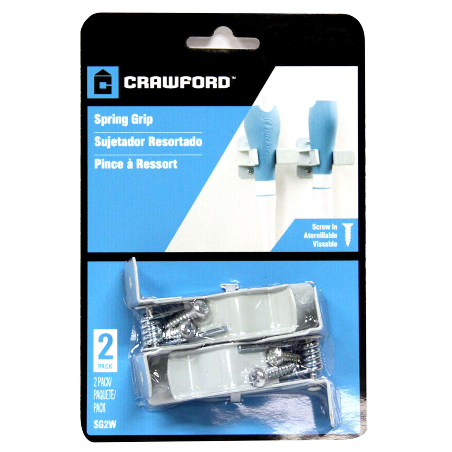 Crawford  2.61 in. D Grip Clamps  5 lb. Steel  White