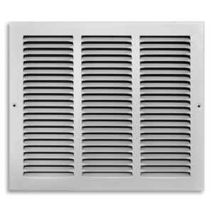 Tru Aire  12 in. H x 14 in. W 1-Way  Powder Coat  White  Steel  Return Air Grille