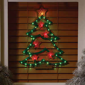 Impact Innovations  Christmas Tree  Silhouette  Red/Green  Acrylic  1 each