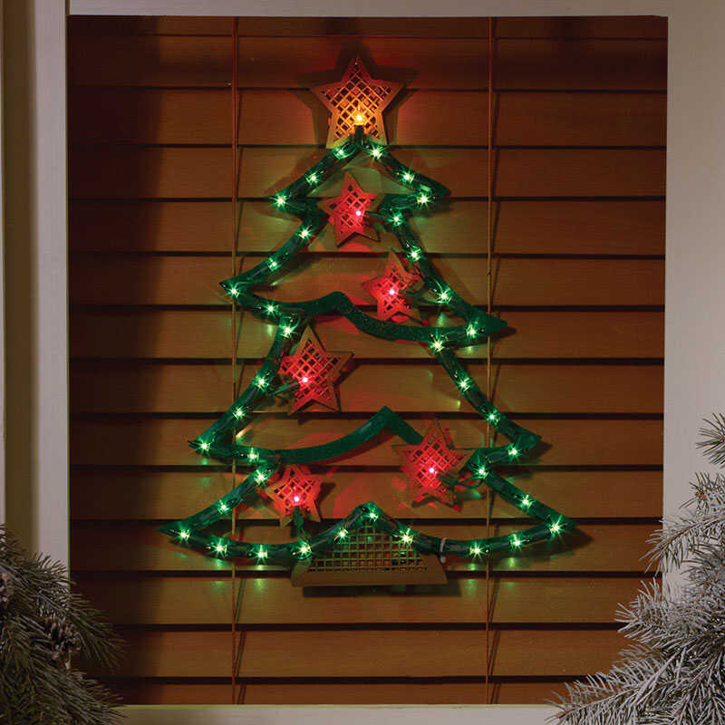 Impact Innovations  Christmas Tree  Silhouette  1 each Acrylic  Red/Green