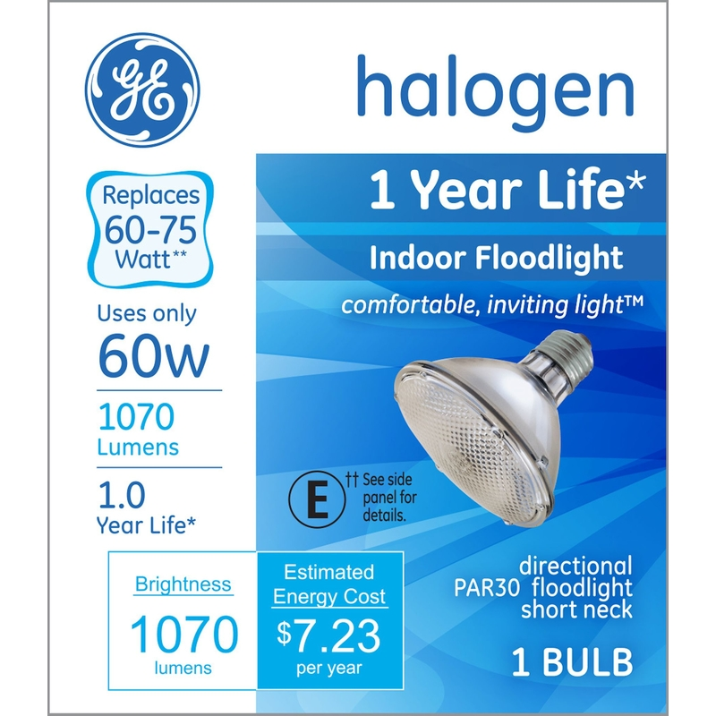 GE Lighting  48 watts PAR30  Halogen Bulb  840 lumens White  Floodlight  1 pk