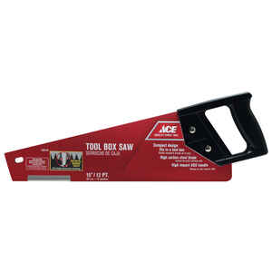 Ace  15 in. High Carbon Steel  Tool Box Saw  12 TPI