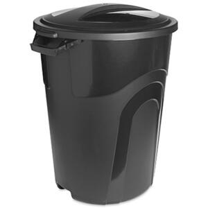 United Solutions  Rough & Rugged  32 gal. Plastic  Garbage Can  Lid Included