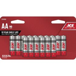 Ace  AA  Alkaline  Batteries  16 pk Carded