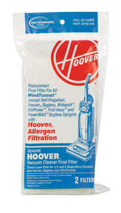 Hoover  Replacement Final Filter Allergen  For non-self-propelled Hoover uprights with Allerg Bagged