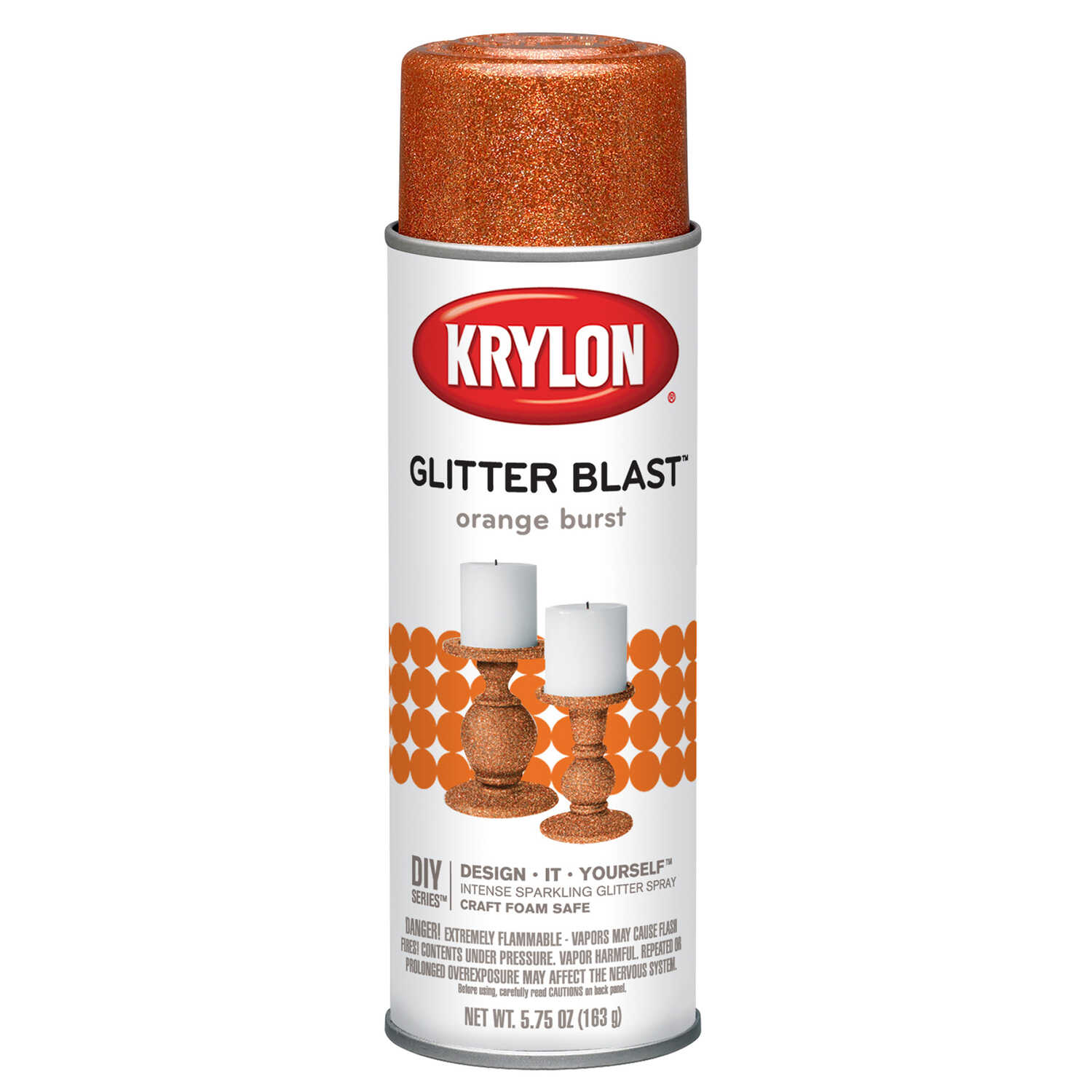 Krylon  Glitter Blast Spray Paint  Orange burst  5.75 oz.