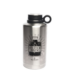 Manna 64 oz. Home Brew Silver BPA Free Insulated Bottle