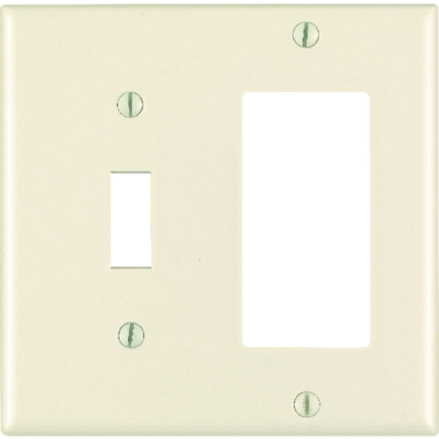 Leviton  Almond  2 gang Polycarbonate  GFCI/Rocker/Toggle  Wall Plate  1 pk