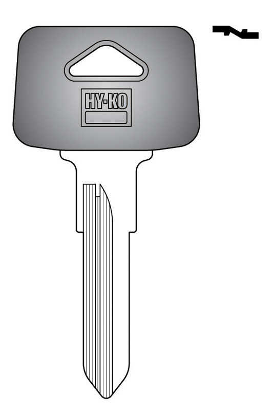 Hy-Ko  Automotive  Key Blank  EZ# VL8P  Double sided For Fits Many 1984 And Older Ignitions
