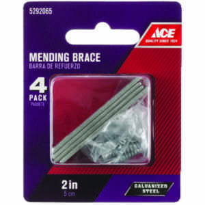 Ace  0.5 in. W x 1.105 in. L x 2 in. H Galvanized  Steel  Mending Brace
