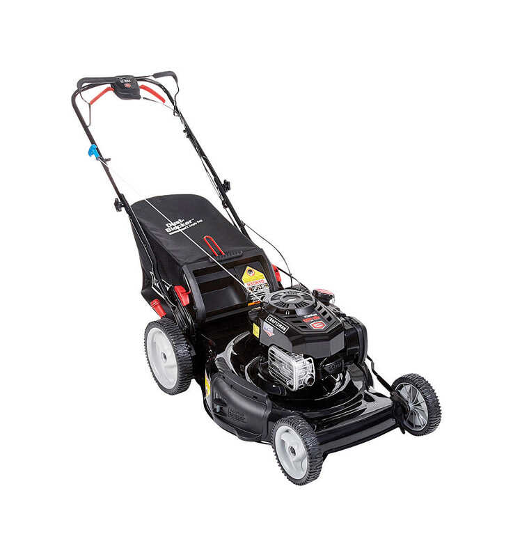 Craftsman  22 in. W 163 cc Self-Propelled  Mulching Capability Lawn Mower