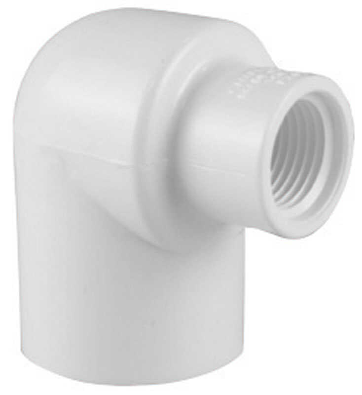Charlotte Pipe  Schedule 40  1 in. Slip   x 3/4 in. Dia. FPT  PVC  Elbow