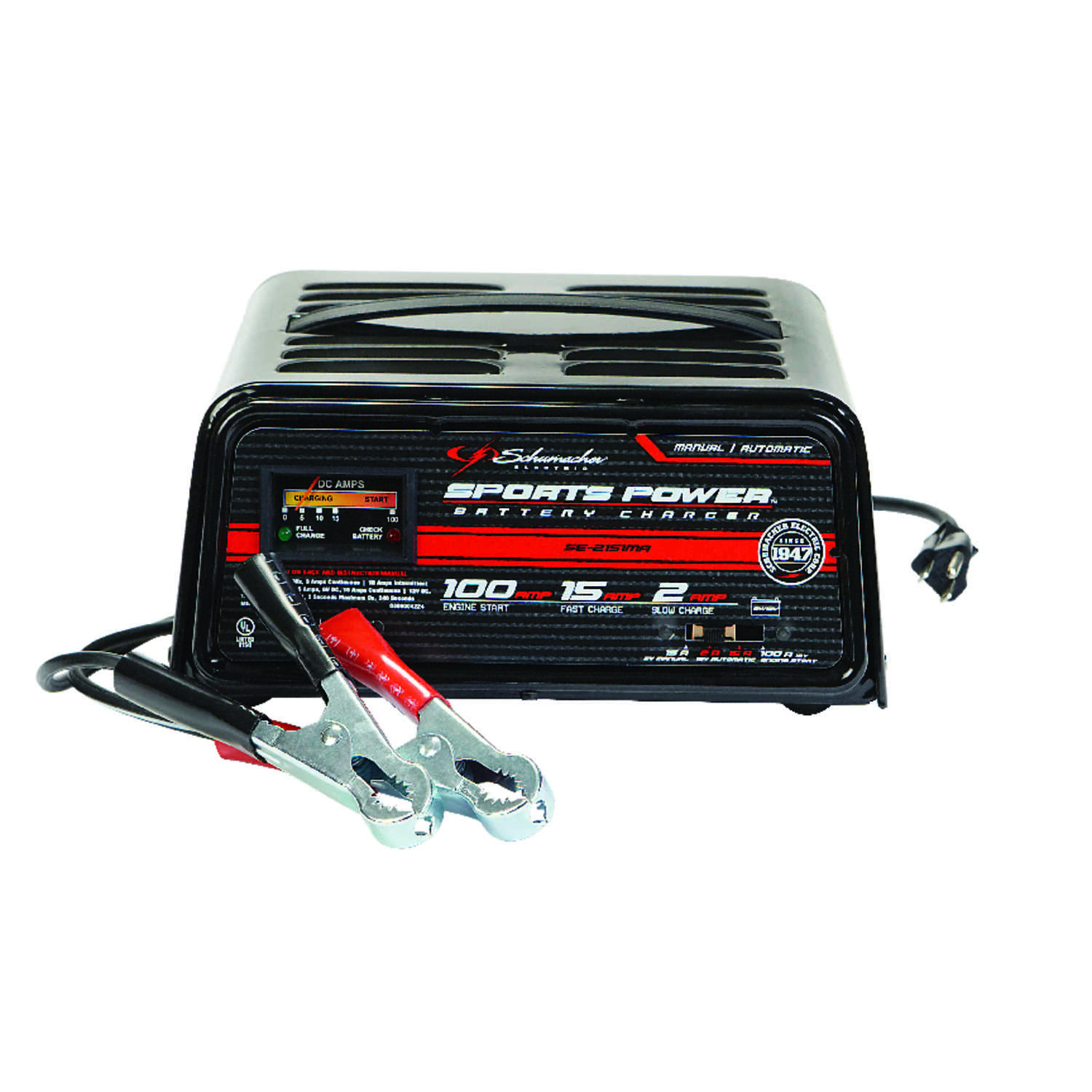 Schumacher  Automatic/Manual  12 volts Battery Charger/Engine Starter  15/2/100 amps