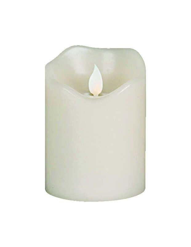 Gerson  No Scent Scent Ivory  LED  Candle  4 in. H x 3 in. Dia.