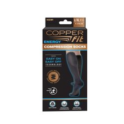 Copper Fit Black Compression Socks