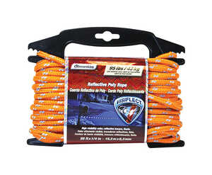 SecureLine  1/4 in. Dia. x 50 ft. L Orange  Diamond Braided  Poly  Rope