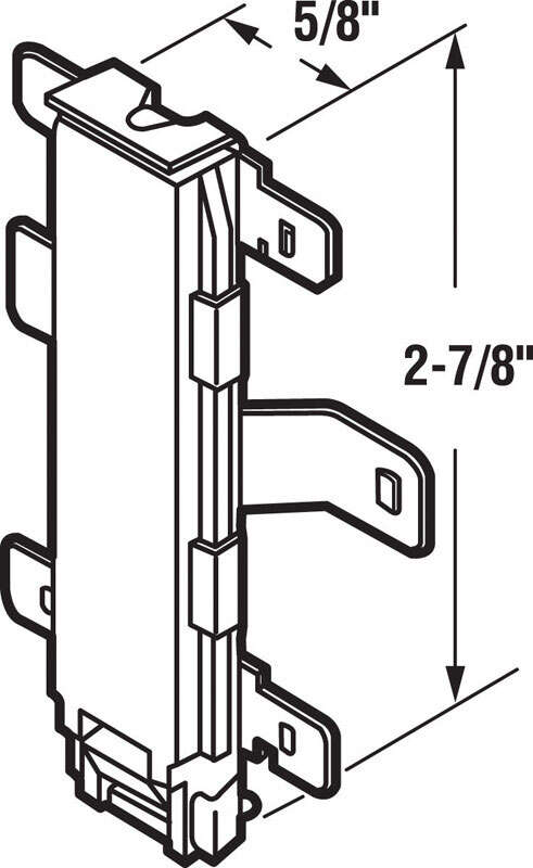Prime-Line  Gold  Steel  Bottom mount Door Guide  2 pk