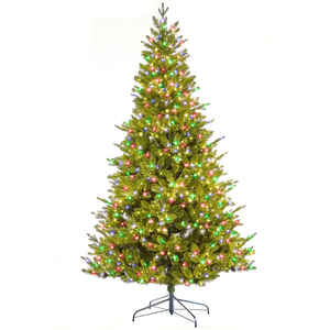 Celebrations Home  7 ft. Multicolored  Prelit Frasier Invisible Wire  Fir Tree  1200 lights