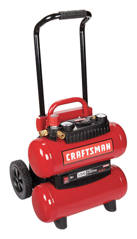 Craftsman  4 gal. Twin Tank  Portable Air Compressor  155 psi 1.1 hp