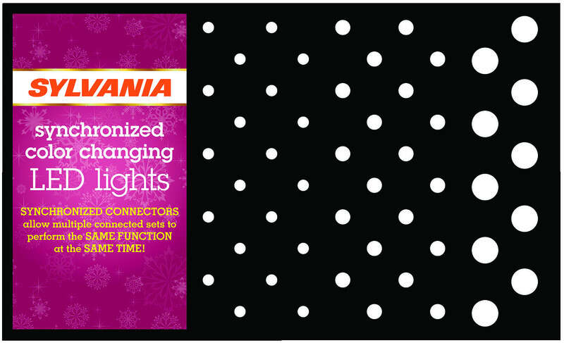 Sylvania Assorted Accent Lighting Displayer Cardboard