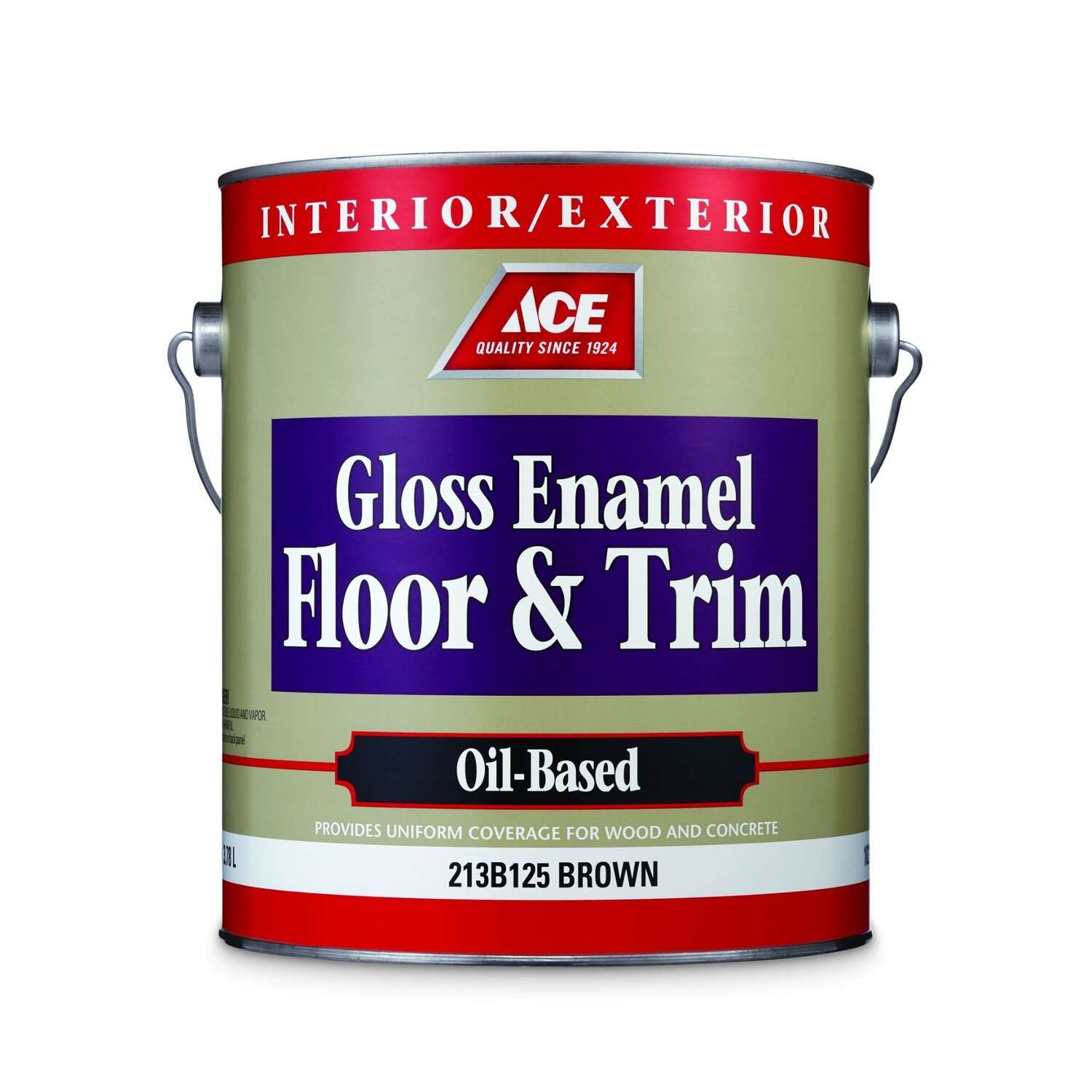 Ace Gloss Brown Enamel Oil Based Floor Paint 1 Gal Ace Hardware