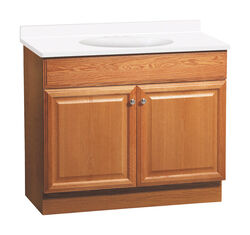 Continental Cabinets  Single  Oak  Oak  Vanity Combo  36 in. W x 18 in. D x 32 in. H