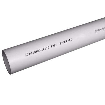 Charlotte Pipe  Schedule 40  PVC  Foam Core Pipe  1-1/2 in. Dia. x 10 ft. L Plain End  0 psi